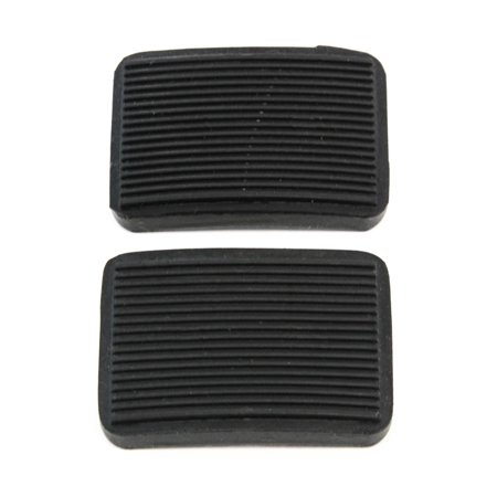 2 Manual Transmission Brake Pedal or Clutch Pad Compatible with Ford (1984-1990 Bronco, 1983-1989 Ranger) New Black
