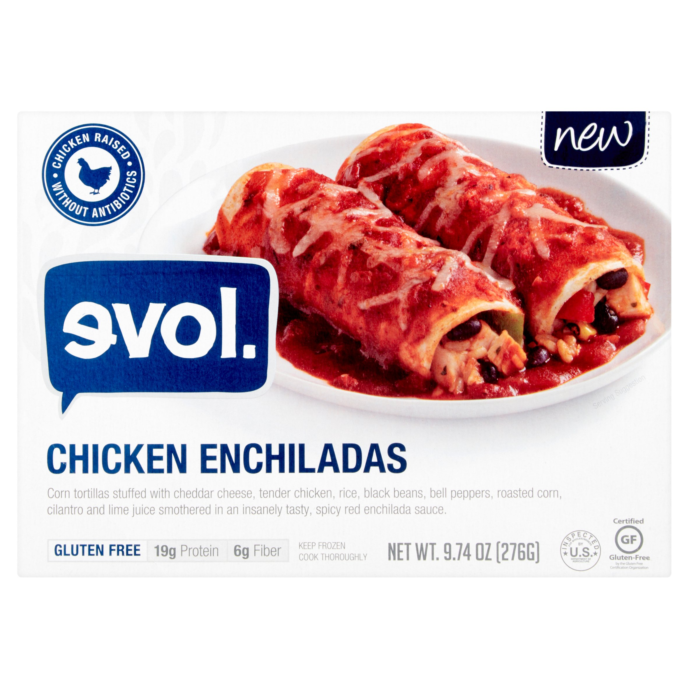 Evol Chicken Enchiladas, 9.74 oz