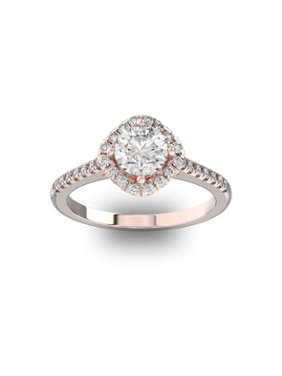 cf3a83310 Product Image 1 1/3 Carat Cushion Style Halo Diamond Engagement Ring in 14  Karat Rose Gold