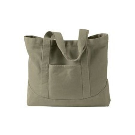 Authentic Pigment 14 oz. Pigment-Dyed Large Canvas Tote - KHAKI GREEN - OS Prince Nylon Tote