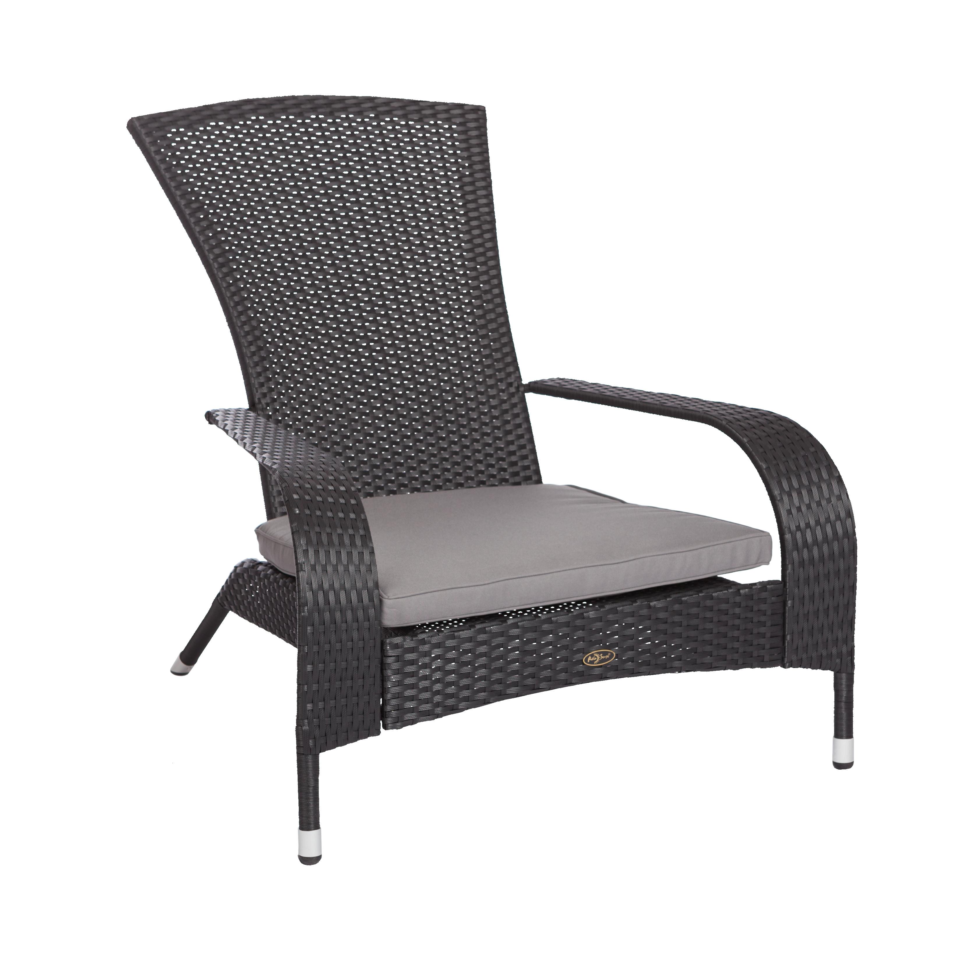 Black Coconino Wicker Chair