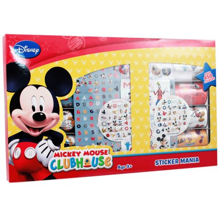 Fan Club Sticker - 450pc Disney Junior Mickey Mouse Clubhouse Sticker Mania Gift Set