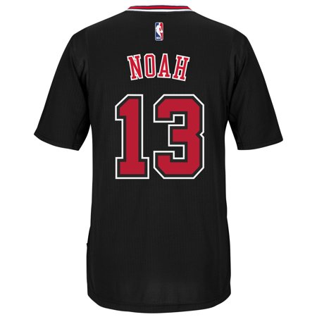 Joakim Noah Chicago Bulls Adidas Alternate Swingman Jersey (Black) by