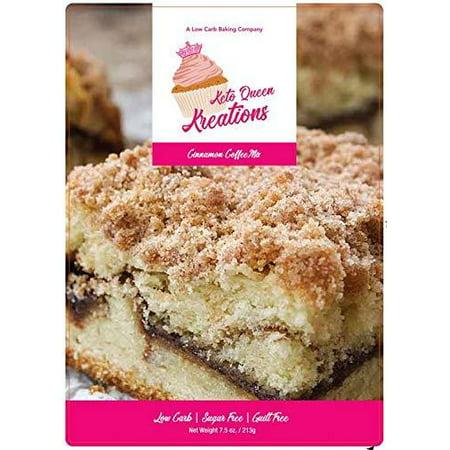 Keto Queen Kreations, Low Carb (1 net), Sugar Free, Keto, Cinnamon Coffee Cake Mix 7.5 oz. (12 Servings)