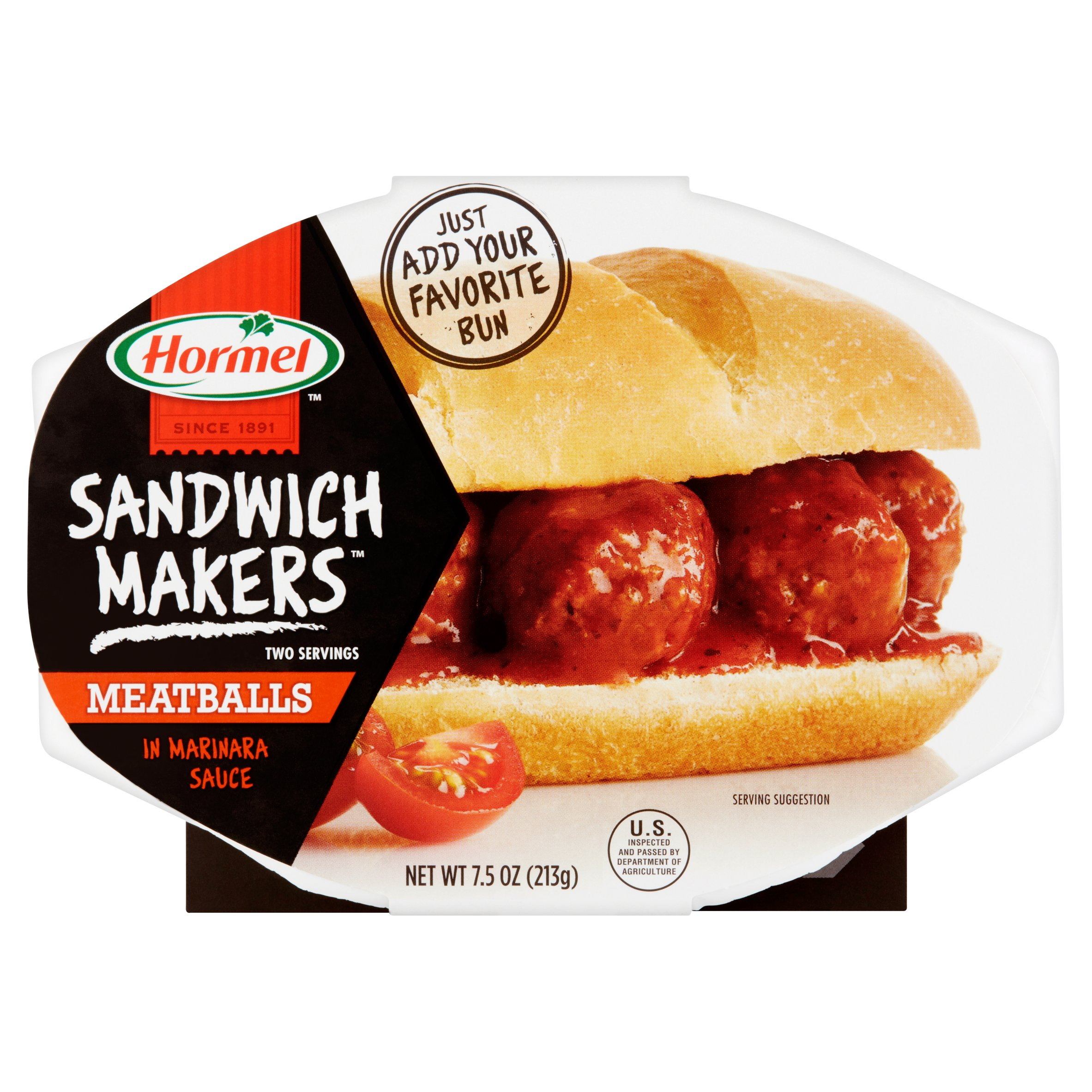 Hormel Sandwich Makers Meatballs in Marinara Sauce, 7.5 oz by Hormel Foods Sales, LLC