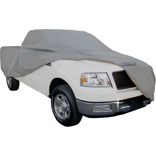 Coverking Universal Cover Fits Mini Truck with Long Bed & Extended Cab, Triguard Gray