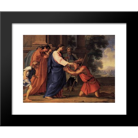 Christ Healing the Blind Man 20x24 Framed Art Print by Eustache Le Sueur - Jesus Heals The Blind Man