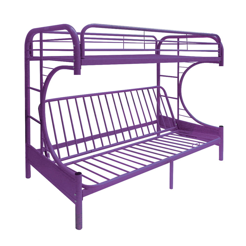 Acme Eclipse Twin Over Full Futon Bunk Bed Purple