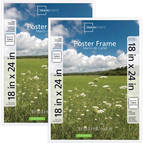 "Mainstays 18"" x 24"" Basic Poster and Picture Frame, Black, Set of 2"