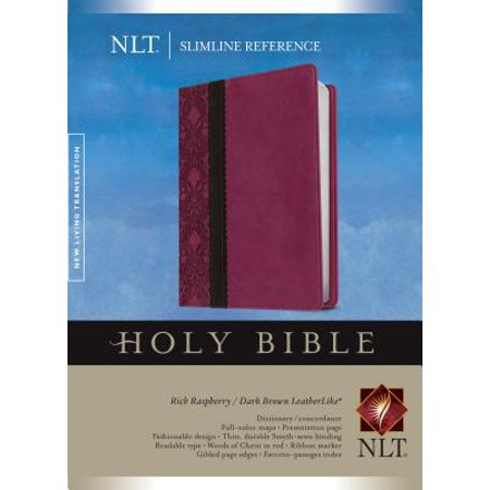 Slimline Reference Bible NLT, TuTone (Red Letter, LeatherLike, Rich Raspberry/Brown/Dark (Going From Brown To Red Hair At Home)