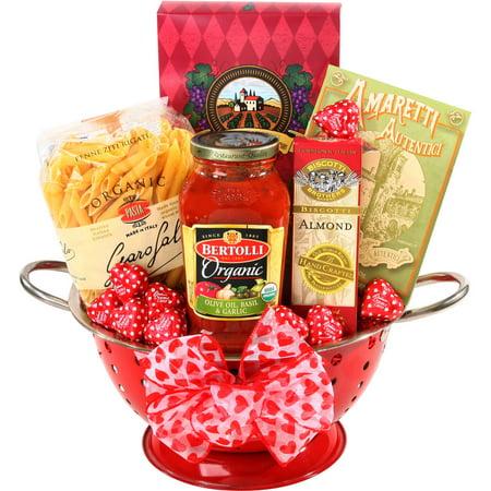 Alder Creek Mi Amore Valentine Gift Basket, 6 pc