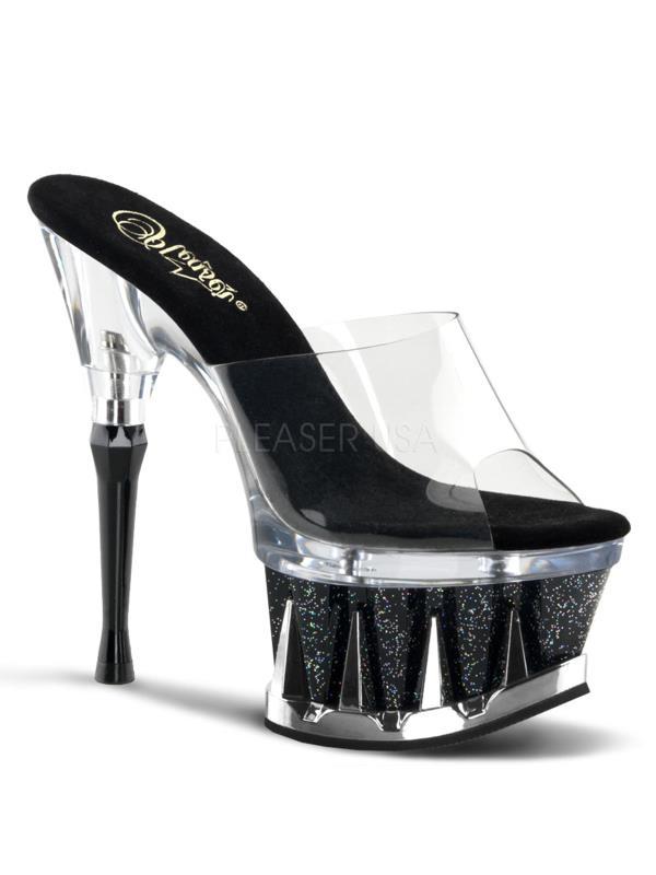 "SP601MG/C/BG Pleaser Platforms Exotic Dancing 6""-6 1/2"" Heel Shoes Size:7"