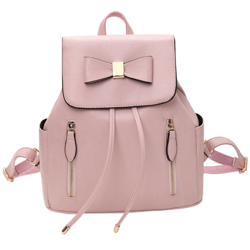 Cute Backpacks, Coofit Travel Backpack Artificial Leather Daypack Student Pink Rucksack for Women Girls