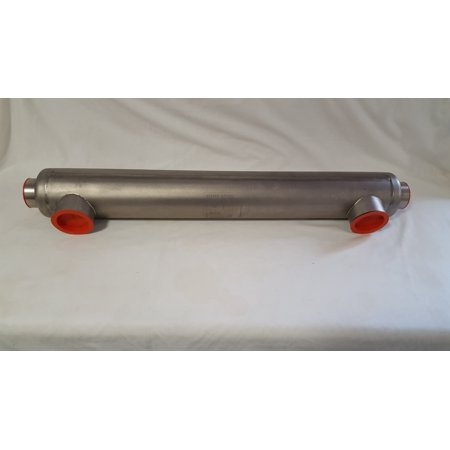 300,000 BTU Stainless Steel Tube and Shell Heat Exchanger for Pools/Spas