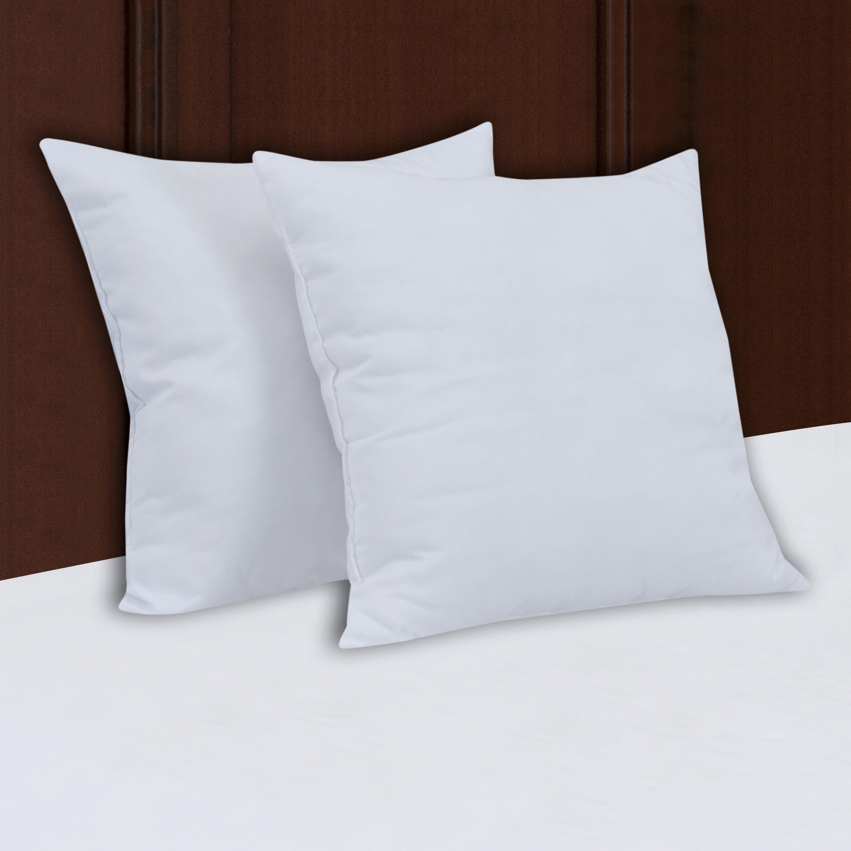 16 By 16 Pillow.Mainstays Decorative Pillow Insert 100 Polyester 16 X 16 Set Of 2 Walmart Com