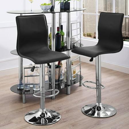 Phenomenal Home Source Alexander Black Faux Leather Gas Lift Bar Stool Set Of 2 Short Links Chair Design For Home Short Linksinfo