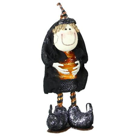Fun Whimsical Halloween Orange Witch 16 Inch Figurine (Whimsical Halloween Music)
