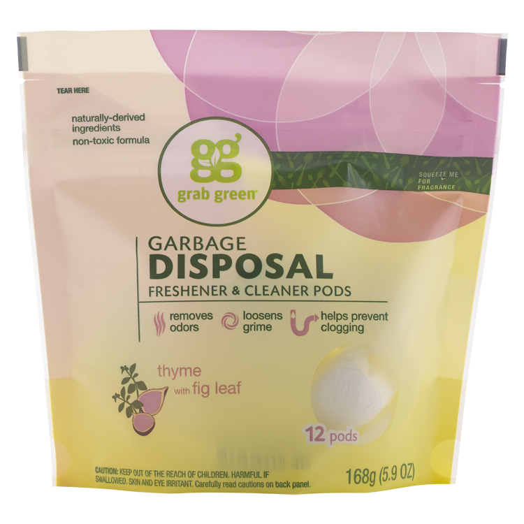 Grab Green Garbage Disposal Freshener & Cleaner, Thyme with Fig Leaf