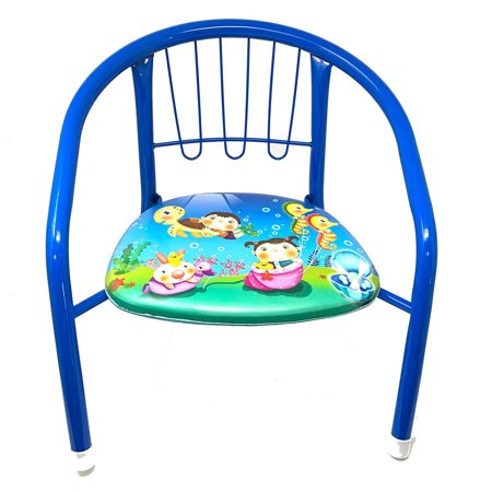 Magnificent Kids Toddler Metal Chairs With Soft Cushion Bottom Squeaky Fun Sound Indoor Outdoor Chair For Boys Girls Home Garden Playhouse Preschool Birthday Dailytribune Chair Design For Home Dailytribuneorg