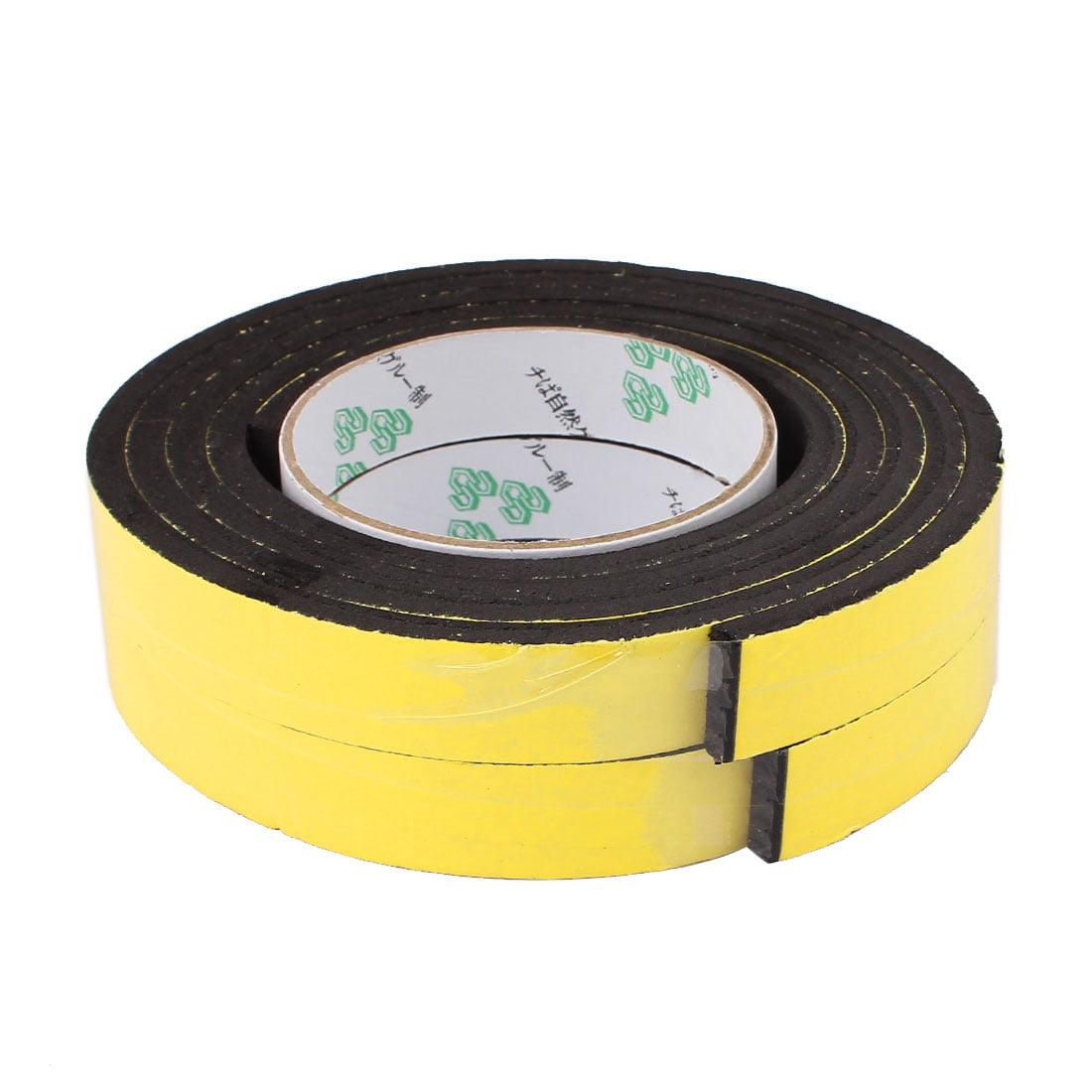 2 Pcs 20 x 6mm Single Sided Self Adhesive Shockproof Sponge Foam Tape 2M Length