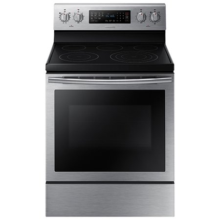 Samsung  Ne59j7630ss 30   5 9 Cu  Ft  Freestanding Electric Range With  5 Smooth Top Electric Elements  Storage