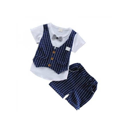 Funcee Spring Autumn Children Boys Cotton Clothes Kids Bowknot T-Shirt Shorts 2pcs/Sets Tracksuits