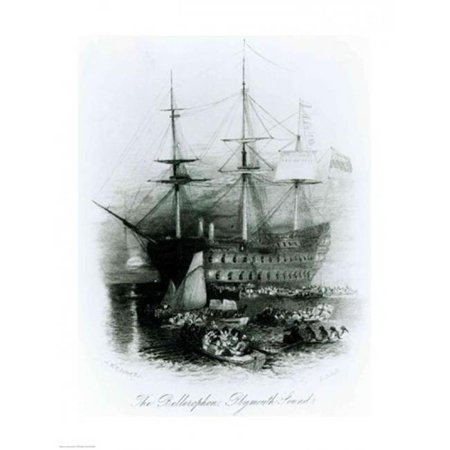 Posterazzi BALXJF323084 The Bellerophon at Plymouth Sound in 1815 Poster Print by J.M.W. Turner - 18 x 24 in. - image 1 of 1