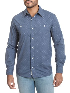 Wrangler Men's Premium Slim Fit Printed Shirt, Up to 3XL