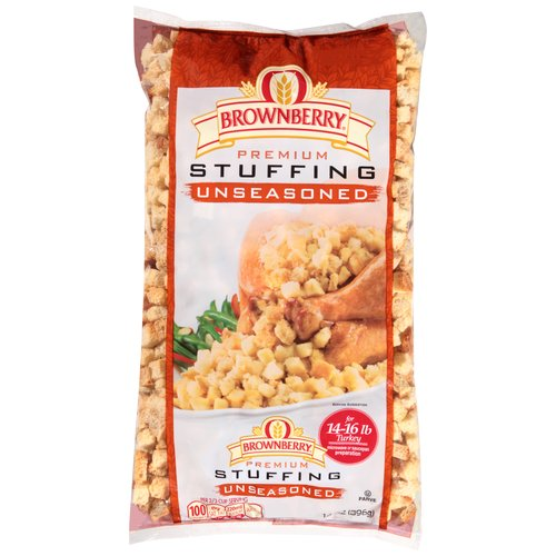 Brownberry Cubed Unseasoned Premium Stuffing, 14 oz