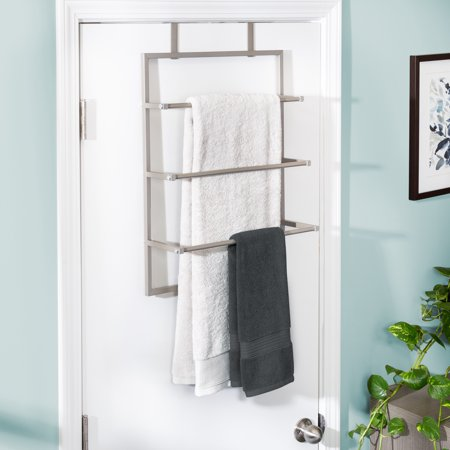 Walmart Bathroom Towel Racks.Honey Can Do 3 Tier Over The Door Steel Bathroom Towel Rack Grey