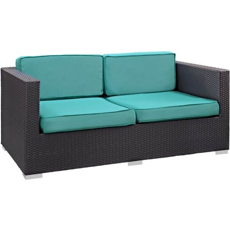 East Patio Loveseat Turquoise