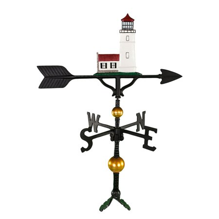 Deluxe Color Cottage Lighthouse Weathervane - 32 in. (Lighthouse Cottage Weathervane)
