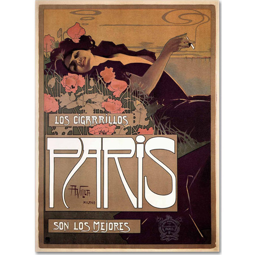 "Trademark Fine Art ""Paris Cigarettes 1901"" Canvas Art by Vintage Apple Collection"