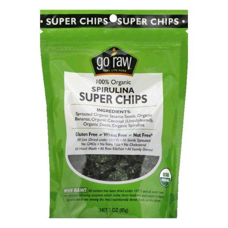 Go Raw Spirulina Organic Super Chips, 3 Oz (Pack of