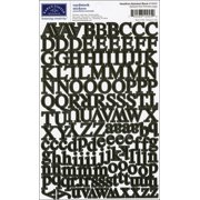 Alphabet Cardstock Stickers-Headline - Black