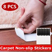 8 Pcs Rug Grippers, Rug Pad,  Carpet Tape Pad Corner Stickers for Hardwood Floors - Non Slip & Anti Curling, Keep Rug in Place & Makes Corners Flat