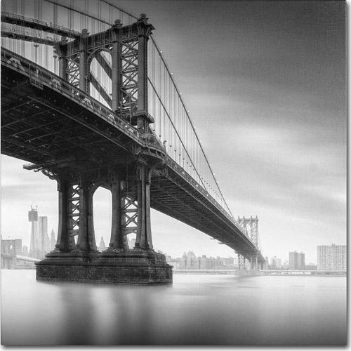 "Trademark Fine Art ""Manhattan Bridge I"" Canvas Art by Moises Levy"