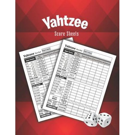 Yahtzee Score Sheets: 100 Yahtzee Game Record Score Keeper Book for Family and Friend Dice Game (Record Keeper)