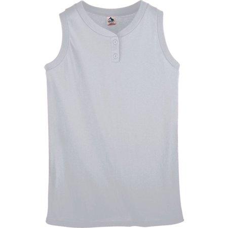 Girls Stinger Softball - Augusta Sportswear Sleeveless Two-Button Softball Teamwear Jersey Girls 551