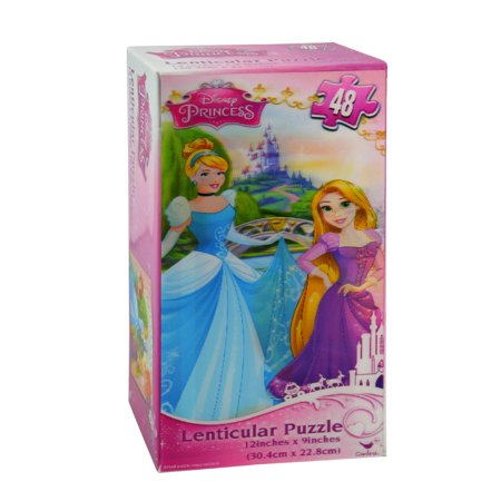 Disney Princess Lenticular Puzzle Fairytale Learning Kids Toys Games (48 Pieces) - Disney Kids Games