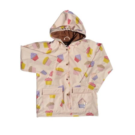 Girls Pink Cupcakes Galore Rain Coat 8-10