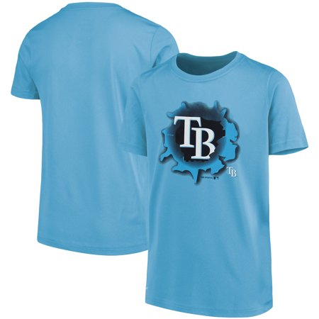 MLB Tampa Bay RAYS TEE Short Sleeve Boys OPP 100% Cotton Alternate Team Colors