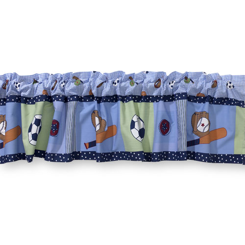 Bedtime Originals by Lambs & Ivy - Super Sports Window Valance