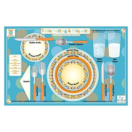 Placemat - Tot Talk - Table Setting & Etiquette Meal Dinning Kids Mat tot1037 ()