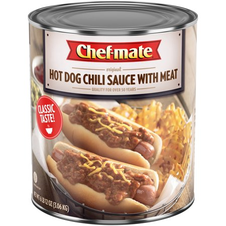 CHEF-MATE Hot Dog Chili Sauce with Meat 6.75 lb.