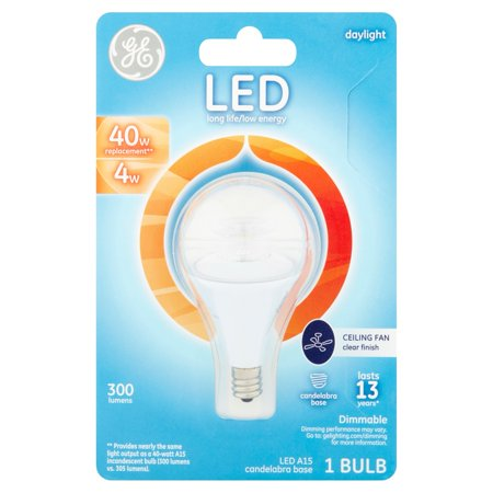 Ge Led 4w Daylight Ceiling Fan Small Base A15 1pk Walmart Com