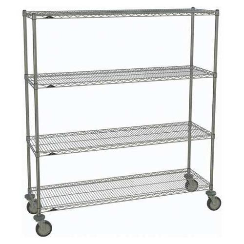 METRO 1860NC-4,63UP-4,5MP-4 Wire Cart,Chrome,69in.H x 60in.L,Silver G2418005