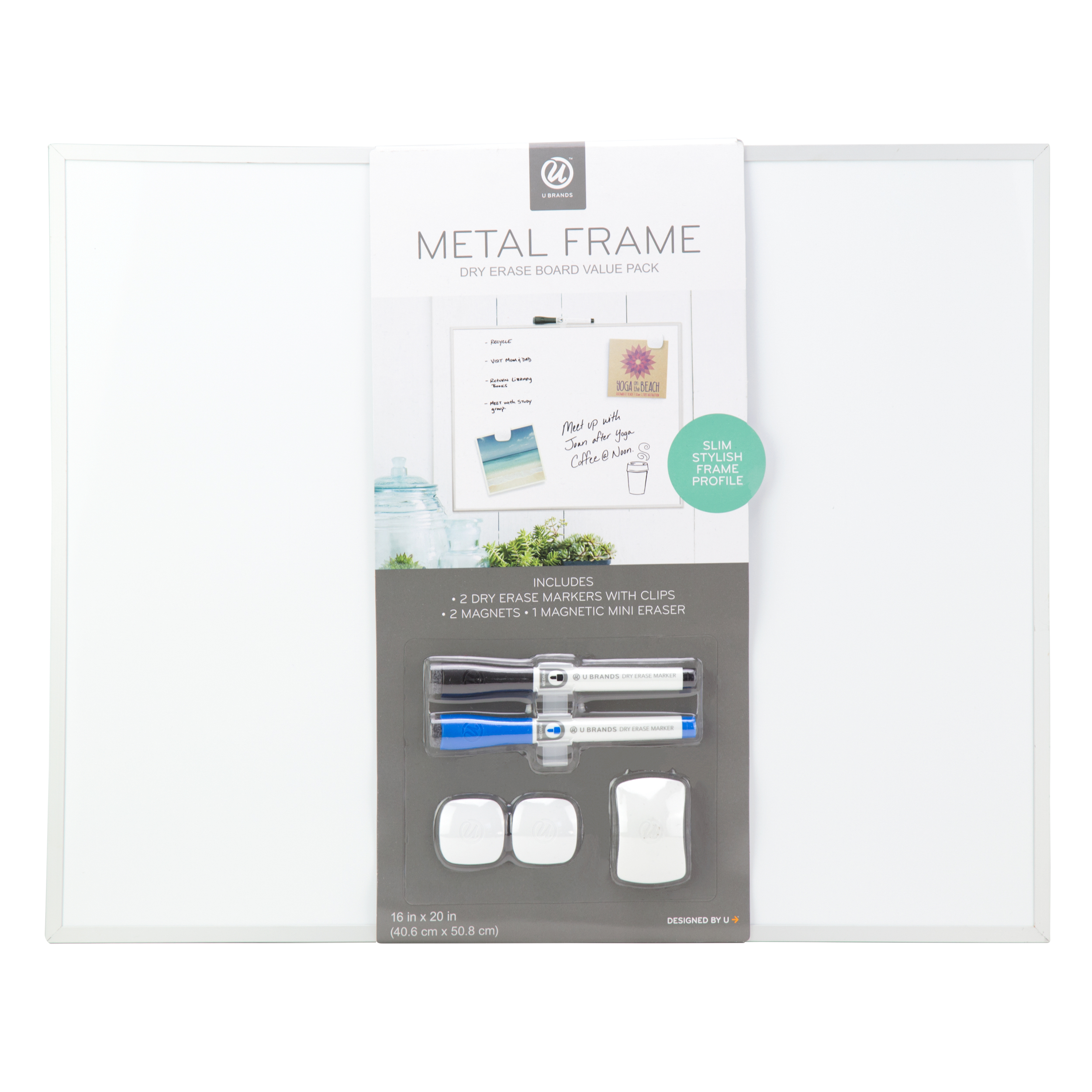 U Brands Magnetic Dry Erase Board, 16\