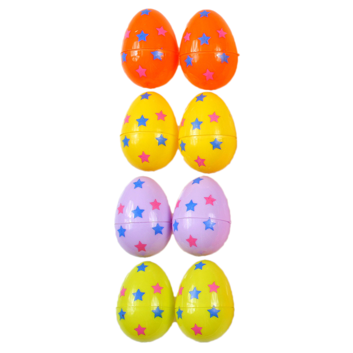 """Decorated Design Fillable Plastic Easter Eggs, 2.5"""", Assorted Colors, 8 Pack"""