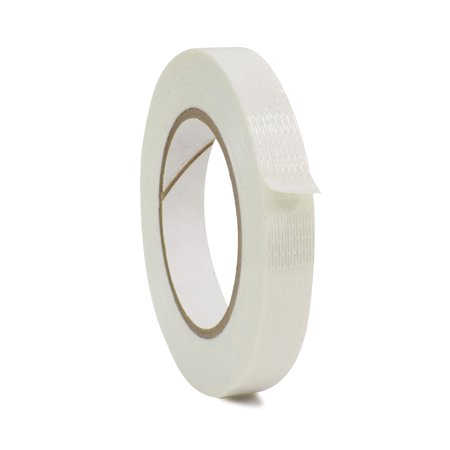 WOD FIL-835B/D Bi-Directional Fiberglass Reinforced Packing Filament Strapping Tape, High Adhesion Level, Tear Resistance, Hexayurt Tape (Available in Multiple Sizes): 3/4 in. x 60 yds.